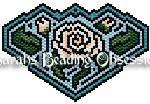 White Rose Maze Barrette 9985
