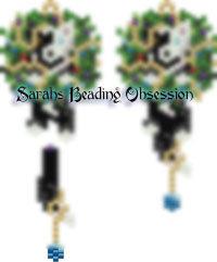 Border Collie Phantom Wreath Earrings id 14016