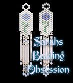 Dusk Bridal Rose earrings id 10118