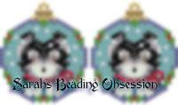 Malamute Snowglobe Earrings id 8939