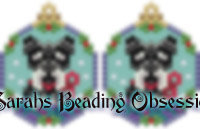Schnauzer Black Silver Snowglobe Earrings id 14896
