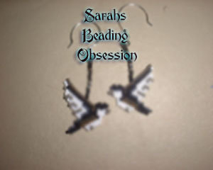Flying Chickadee Earrings id 3181