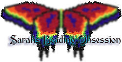 Red Psychedelic Butterfly Barrette Pey id 4569