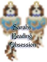 Cavalier King Charles Spaniel Blenheim Love Earrings id 15131