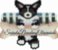 Black Corgi Dogbone Barrette id 16548
