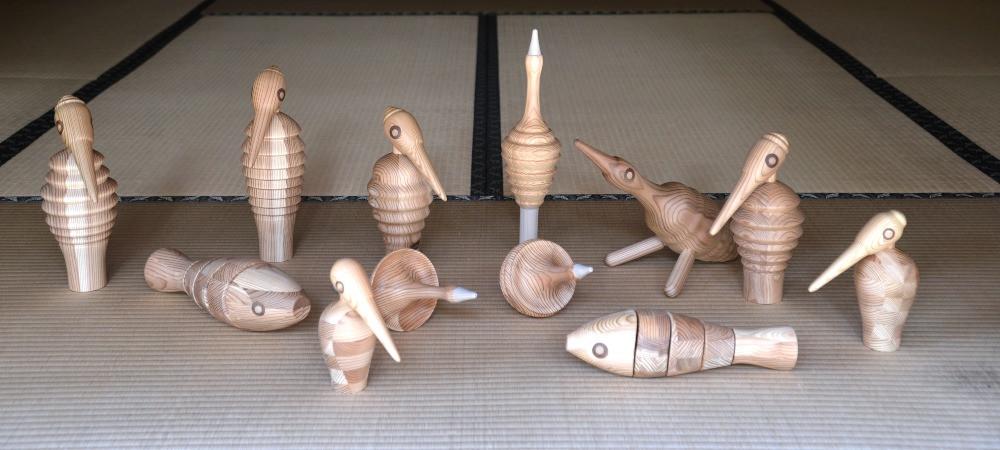 Yosegi muku figurine