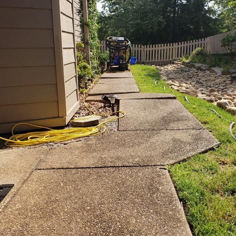 Sidewalk with Trip Hazards - Before