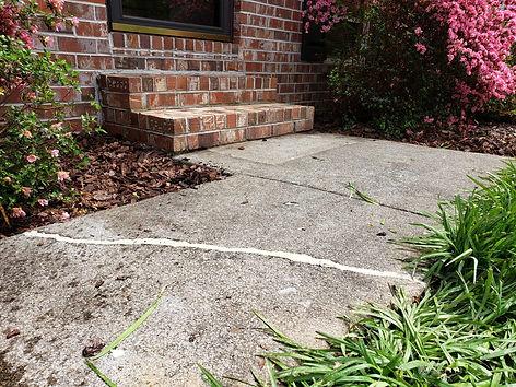 Settled Steps & Sidewalk Crack Repaired.