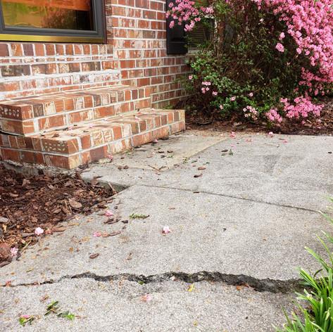 Settled Steps & Sidewalk Crack - Before