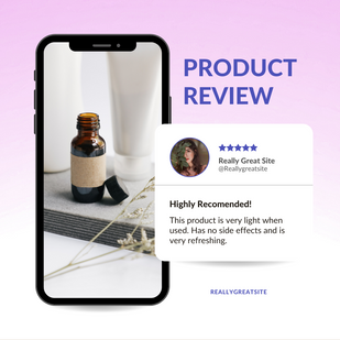 Product Review with Smartphone Mockup In
