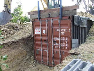Storm Shelter Using Shipping Containers
