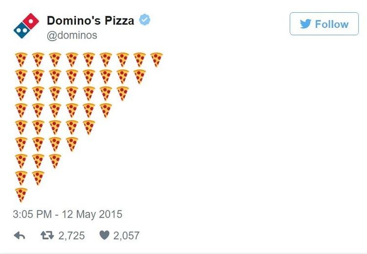 Dominos Twitter Emoji Sales
