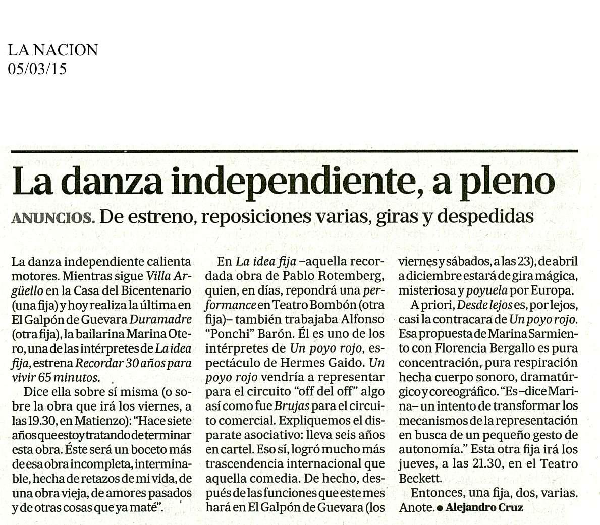 LA NACION, 5 DE MAR.