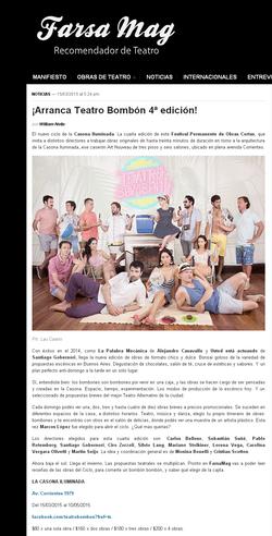 _Farsa Mag GÇö -íArranca Teatro Bomb+¦n 4-¬ edici+¦n