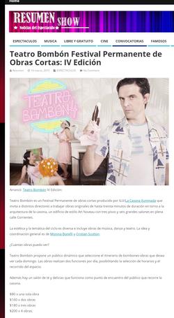 _Resumen_Show_-_Teatro_Bomb+¦n_Festival_Permanente_de_Obras_Cortas__IV_Edici+¦n_-+