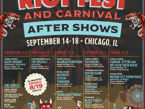 Riot Fest After shows announced!