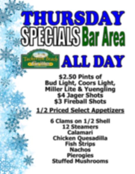 Tuckerton Beach Grille Thursday half off sppetizers