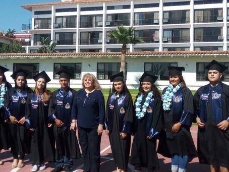 2017. First batch of high school students graduating