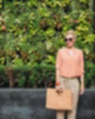 Fashionista in a Park