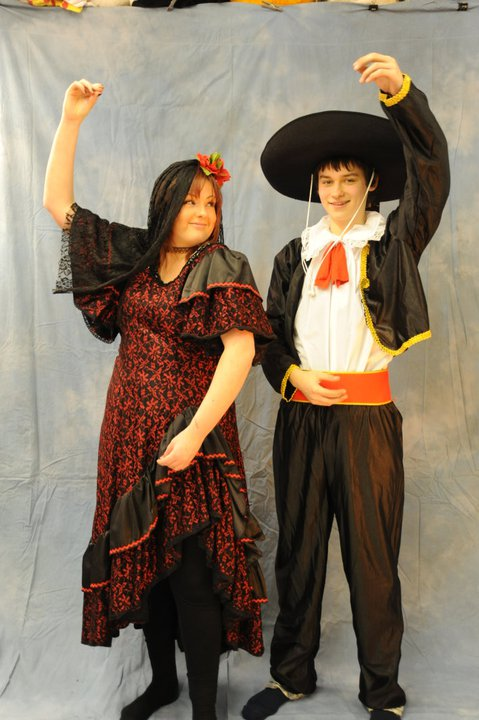 Male and Female Spanish Dancers