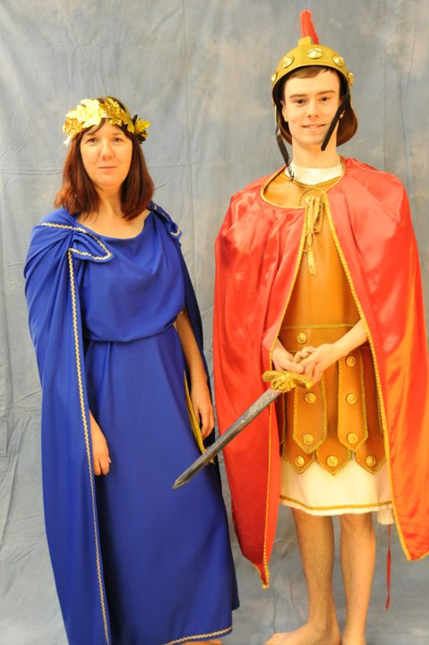 Roman Centurion and Roman Woman
