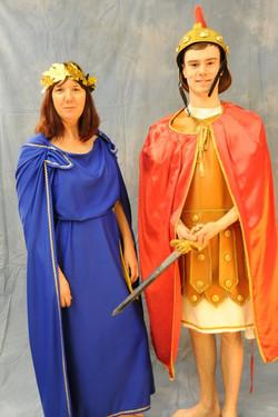 Roman Centurion and Roman Woman