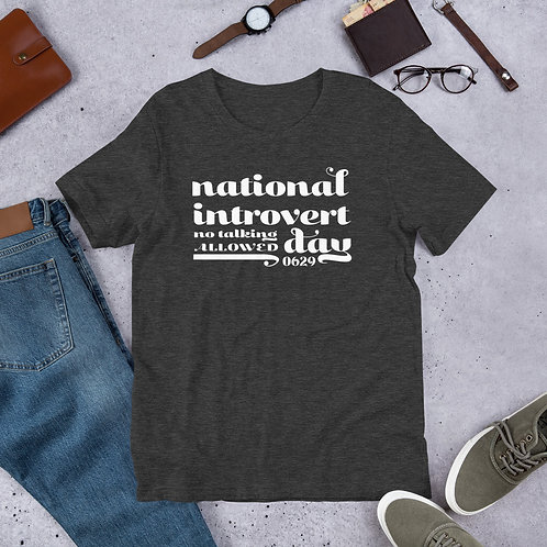 National Introvert Day T-shirt