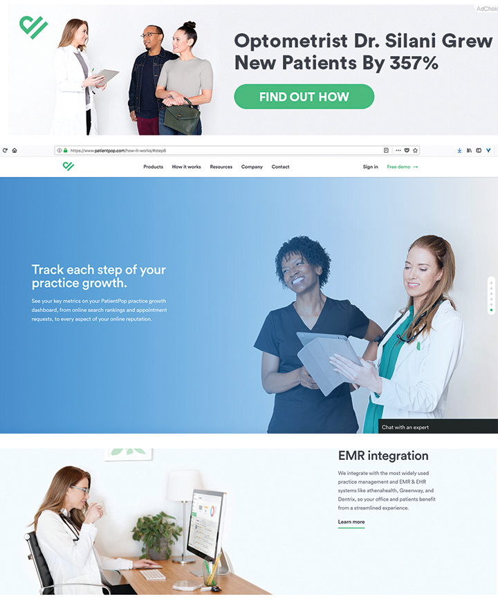 Patient Pop website work