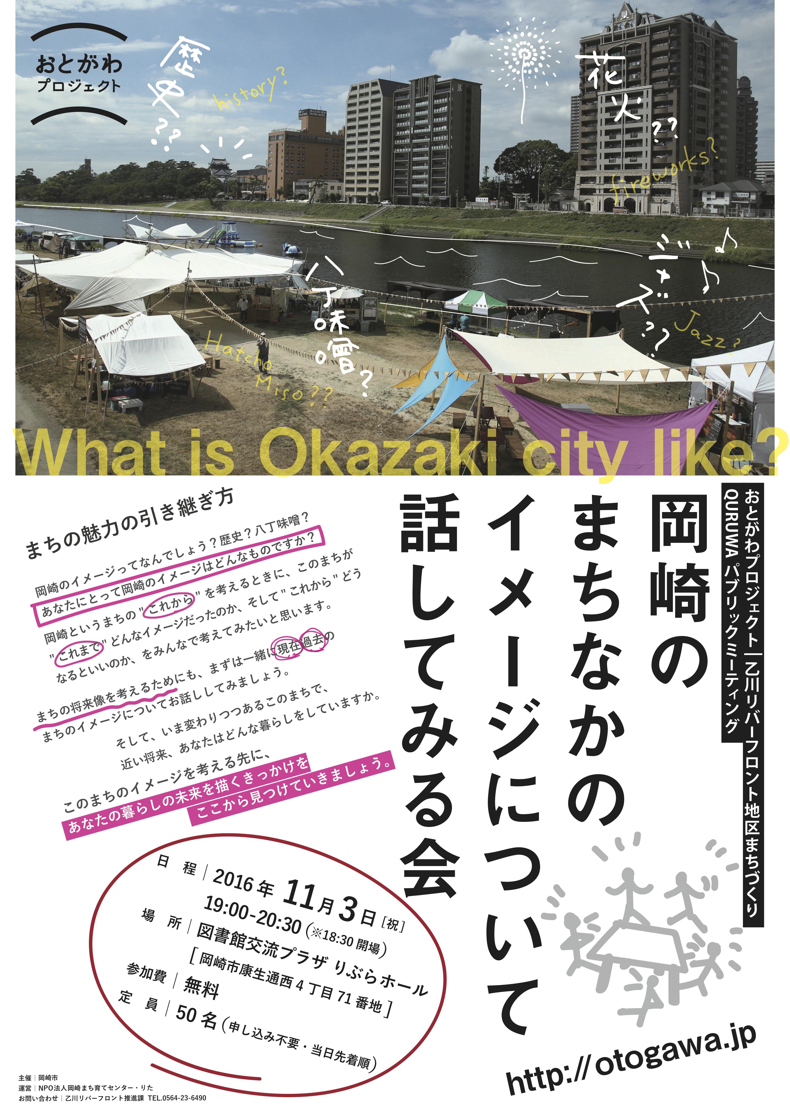 岡崎のまちなかのイメージについて話してみる会 poster