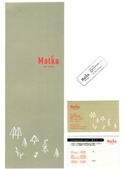 Matka menu introduction card,stamp