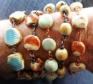 handmade ceramic bead bracelets