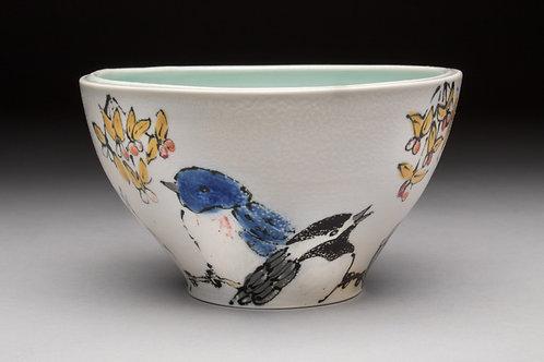 Backyard Birds Bowl with Bittersweet, Artist Rebekah Strickland