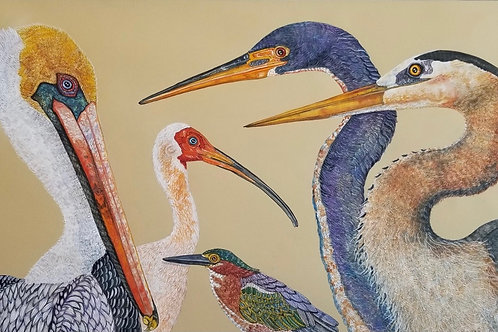 """""""Five Birds"""" - Kathy Crowther"""