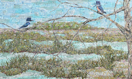 Kingfishers on the Edge of the Maritime Forest