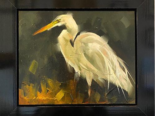 """Great Egret 8 x 10"""" by Artist, Kathryn Ashcroft"""
