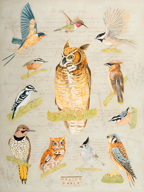 The Owl and the Birds, Artist Martha Worthy