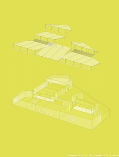 Y1 Architecture Project 2  Axonometric of Library Proposal Building Envelope