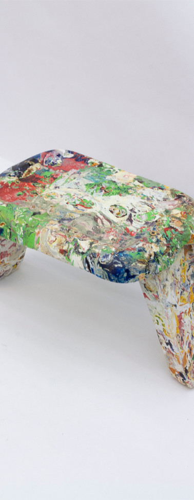 Y3 Project 1 - Plastic Bags manipulated to form a chair  The chair form has the purpose of testing the material's structural capacity.  Medium: Plastic, cooking