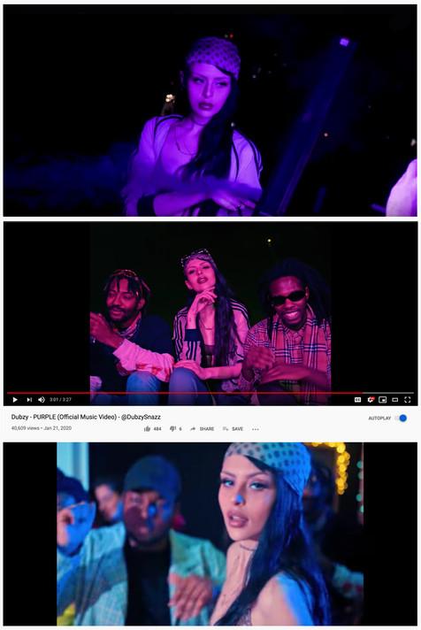 Dubzy - Purple stills  Director: Videographer: