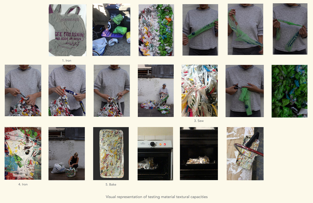 Y3 Project 1 - Material Manipulation of Plastic Bags to form structural components: Documentation of method