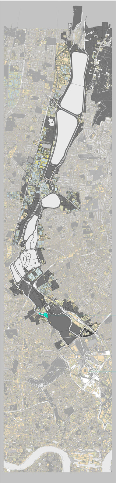 Y2 Architecture Project 2 - Site Map [Lee Valley, London]