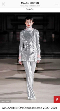 LFW Autumn/Winter 2020 Catwalk  Designer: Malan Breton Also featured in: Elle, The Impressionist, Malan Breton