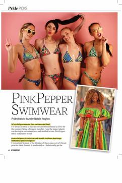 Editorial - Pink Pepper Swimwear Pride Magazine  Casting: Photographer: Models: MUA: Designer: Pink Pepper Swimwear