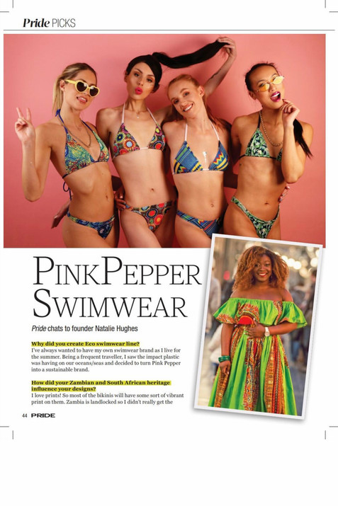 Editorial - Pink Pepper Swimwear Pride Magazine  Casting: Photographer: Models: MUA: Designer: Pink Pepper Swimwear