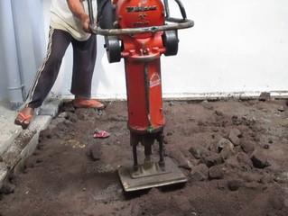 Pemadatan Tanah dan Paving Dengan Stamper Maupun Tandem Roller