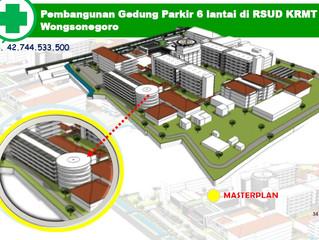 Pembangunan Gedung parkir 6 Lantai RSUD KRMT Wongsonegoro