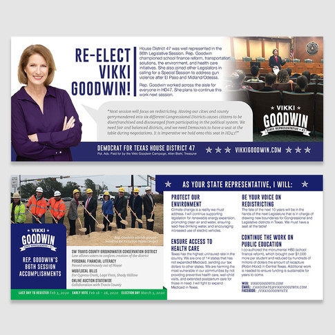Rep. Goodwin push card