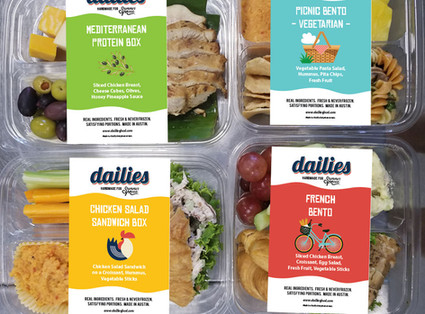 Dailies boxed meal labels