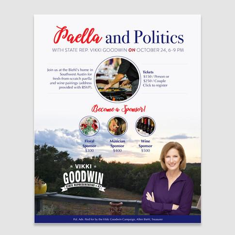 Rep. Goodwin fundraiser flyer