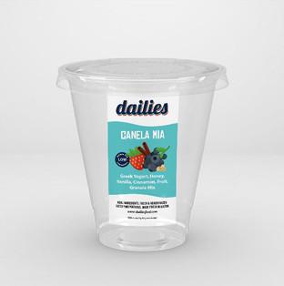 Dailies yogurt label